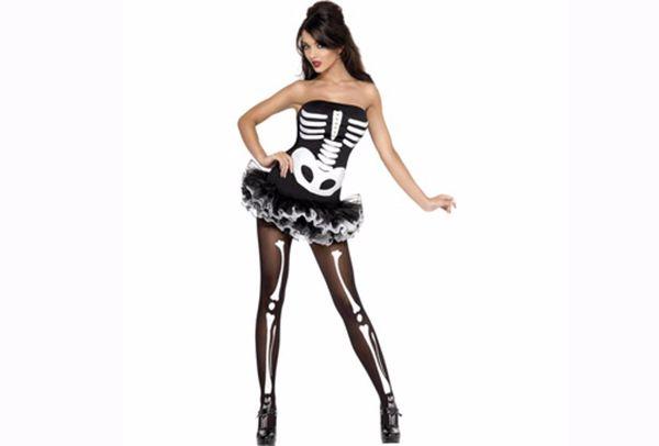 disfraz de esqueleto para chica