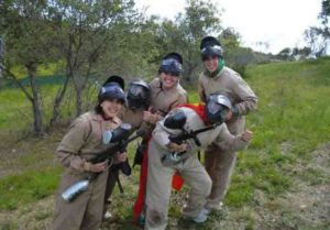 despedida de chicas en el paintball