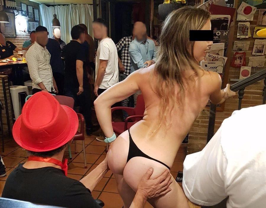 striptease privado en restaurante Mist-Tas