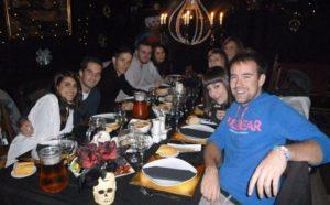 cena en el hotel de terror de Madrid