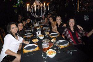 cenando en el hotel del terror en Madrid