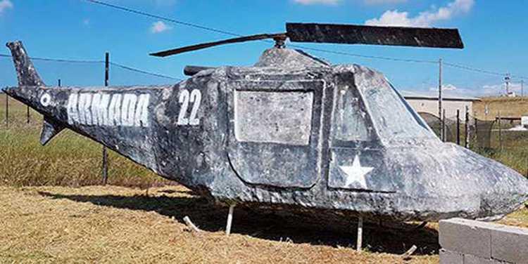 helicóptero en el paintball en navalcarnero