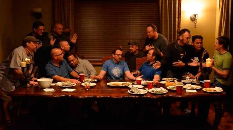 despedida representando la última cena