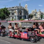 de paseo por madrid en beer bike