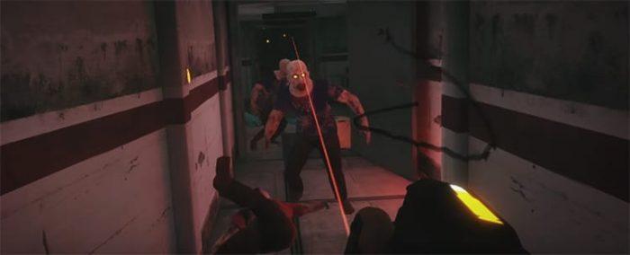 experiencia de realidad virtual ataque zombie