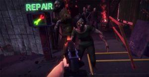 matando zombies en ataque zombie