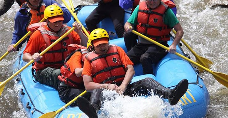 rafting en madrid para despedidas