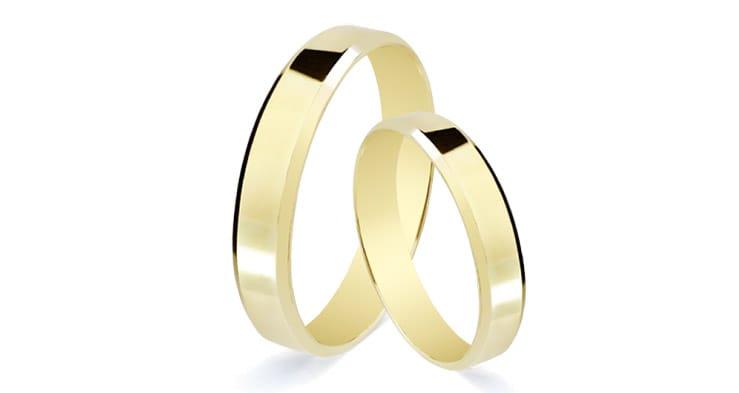 alianza de boda en 9 kilates y 3mm