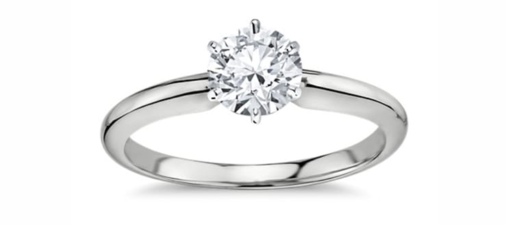 anillo de 6 puntas blue nile