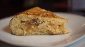 pincho de tortilla en el secreto de ponzano