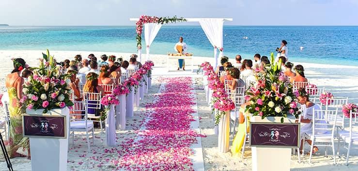 boda temática en la playa