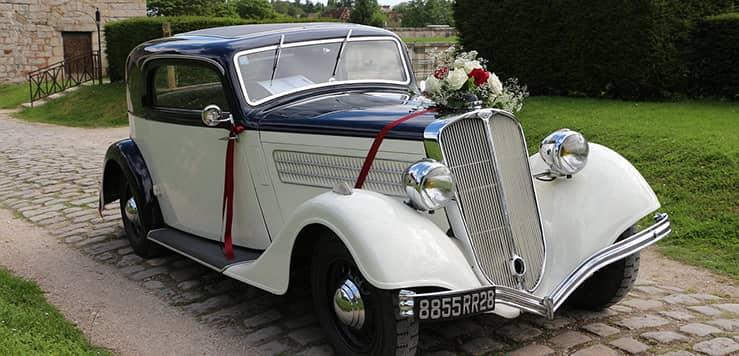 coche para bodas temáticas vintage