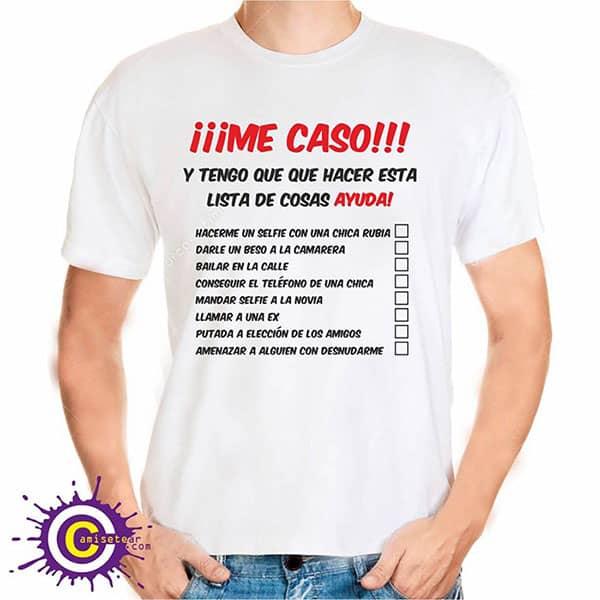camisetas para despedidas de solteros con lista