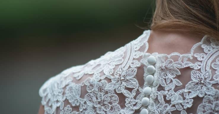 detalle en vestido de novia outlet